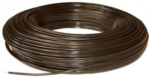 Horse Fence Wire 1320 Ft 12 5 gauge High Tensile Brown Polyethylene Coating