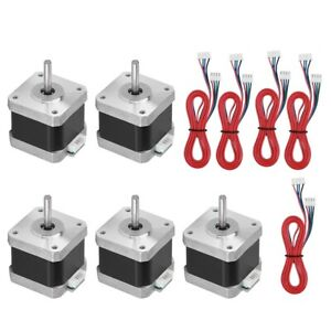5pcs 40mm 1 8 Degree 2phase 4 wire Stepper Motor 5 Cables For 3d Printer Cnc