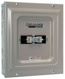 Generator Transfer Switch Double Pole 100 amp Manual Panel Single load Indoor