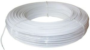 Horse Fence Wire 1320 Ft 12 5 gauge High Tensile White Polyethylene Coating