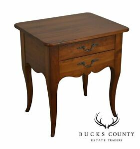 Ethan Allen Maison French Country Style Cherry 2 Drawer Nightstands Side Table