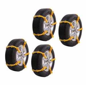 20pcs Universal Anti Skid Tire Chains For Car Suv Snow Winter Emergency Driving