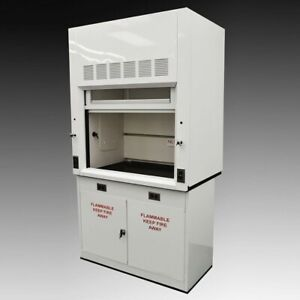 4 Chemical Fume Hood With Dual Sash And Flammable Storage Cabinet New