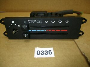 Heater Control Climate Panel Jeep Wrangler Tj 1997 1998 Has Air Conditioning 336