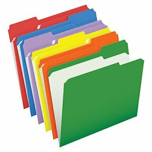 Pendaflex Color File Folders With Interior Grid Letter Size Assorted Colors