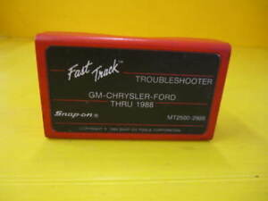 Snap On Mt2500 2988 Fast Track Troubleshooter Gm Chrysler Ford Thru 1988