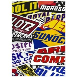 Racing Decals Stickers Grab Bag Race Cars Go Karts Toolboxes Set Of 26
