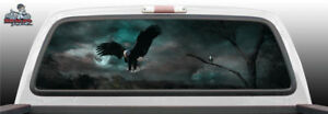 Bald Eagle Scenic Suv Car Perforated Perf Vinyl Rear Window Decal Graphic Truck