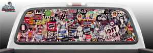 Sticker Bomb Stickers Perforated Vinyl Perf Rear Window Decal Graphic Truck Suv