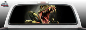 Raptor Ford Teeth Suv Car Perforated Perf Vinyl Rear Window Decal Graphic Truck