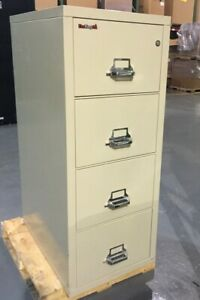 Fireking Four Drawer Letter Size Fireproof File Cabinet R3691 With Key Lock