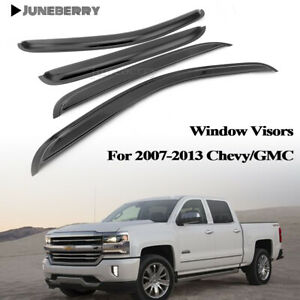 For 2007 2013 Chevy Gmc Crew Cab Pickup Sun Rain Guard Vent Shade Window Visors