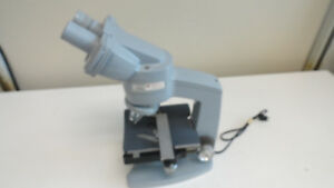 M12 American Optical Fifty Binocular Laboratory Microscope With 2 Objectives