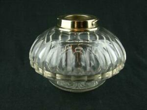 Superb Clear Cut Glass Drop In Table Top Oil Lamp Font Bayonet Fit