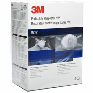 3m 8212 N95 Disposable Welding Respirator 10 pkg