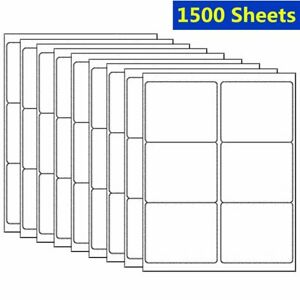 3 1 3 X 4 9000 Labels Address Shipping Mailing Blank Self Adhesive 6 Up Usps
