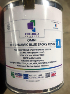 Blue Epoxy Resin 100 Solid For Garage Floor Plywood Concrete 3 Qt