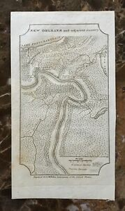 Original New Orleans And Adjacent Country Map By John Melish Philadelphia1822