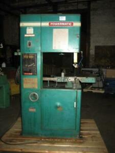 Powematic Model 87 20 Metal Cutting Bandsaw With Blade Welder Used U s a