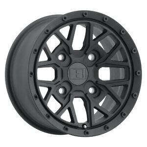 15x7 Level 8 Anarchy Utv Matte Black Wheels 4x110 10mm Set Of 4