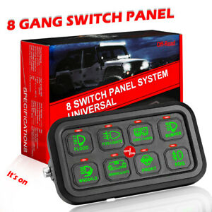 8 Gang Switch Panel Electronic Relay Control System Led Lights Car Marine Boat