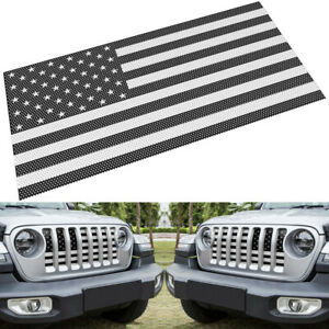 Front Grill Hood Mesh Grille Insert Net Cover For 2018 2019 Jeep Wrangler Jl Jlu