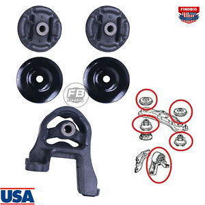 5x Rear Differential Arm Mounting Bushing Top Support Set For Honda cr v 01 12