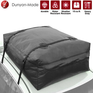 20 Cubic Feet Car Top Bag Travel Storage Waterproof Roof Top Cargo Carrier Blk