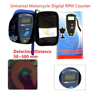 Motorcycle Digital Tachometer Non contact 2 5 99 999 Rpm Counter Measuring Tools