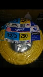 Southwire Romex 250 12 3 Wg Non metallic Cable Copper Electrical Wire Nm b 12 3