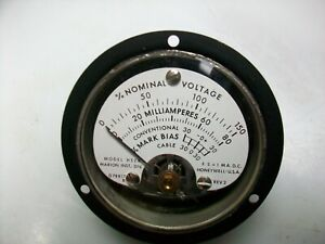 Honeywell 2 1 2 Round 0 1 Ma Dc Multiple Scale Panel Meter
