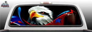American Eagle Abstract Graffiti Perf Rear Window Graphic Decal Suv Truck Car
