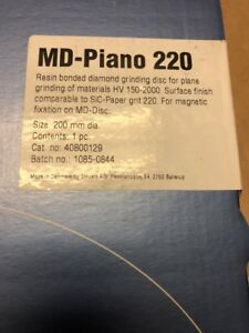 New Md piano 220 Struers 40800129 8 Resin Bonded Diamond Grinding Disc