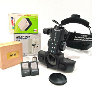 New Led Indirect Ophthalmoscope With Accessories 90d Lens Free Shipping