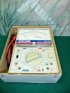 Vintage Nishizawa 3010 Multi Tester In Original Box