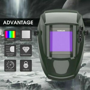 True Color Large View 4 x3 7 Pro Solar Weld Mask Auto darkening Welding Helmet