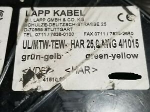Lapp Kabel 4161000 4awg Har H07v k Tinned Copper Hook Up lead Wire Yellow green
