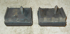 1969 1970 Mustang Fastback Coupe Convert Orig 6 Cyl 250 Motor Mount Insulators