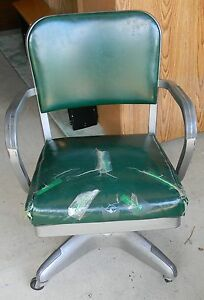 Vintage Mid Century Industrial Desk Chair All Steel Equipment Inc Steampunk