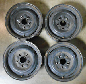 1964 1965 1966 1967 Ford Mustang Falcon Fairlane Cougar Orig 14 X5 Steel Wheels