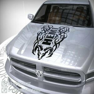 Hood Decal Tribal Vinyl Stripe For Dodge Ram 1500 Hemi Racing Sticker 4x4