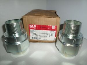 new Box Of 2 Eaton Crouse Hinds Unf Uny 505 1 1 2 Explosion Proof Union