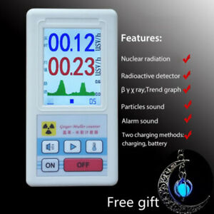 Nuclear Radiation Detector Gamma Beta X ray Tester Marble Smart Geiger Counter