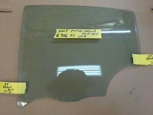 2005 Pontiac Grand Prix Gtp 4dr Left Rear Back Driver Side Door Glass Window