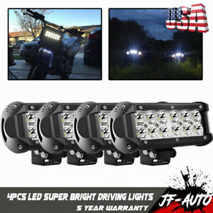 4x 6 Led Pod Work Rv Light Bar Spot Beam Off road Driving Fog Lights 12v