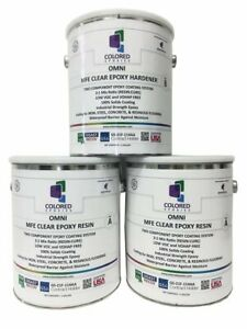 Omni Mfemodified Flexible Epoxy Resin And Hardener 3 Gallon Kit Crystal Clear