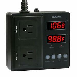 Bayite Temperature Controller 1650w Btc211 Digital Outlet Thermostat Pre wired