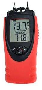 Moisture Meter By Ennologic Digital Lcd Pin Type 7 Material Settings Use For
