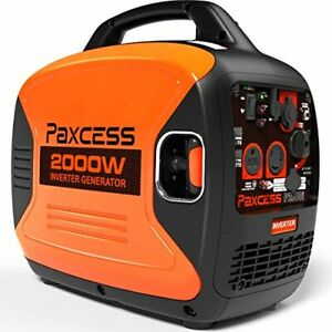 Paxcess 2000 watt Quiet Portable Gas Powered Inverter Generator Home Rv Camping