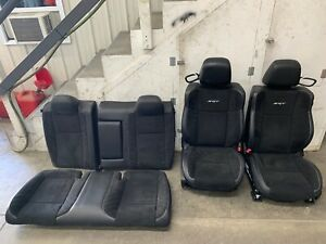 2015 2018 Dodge Challenger Srt Oem Front Rear Seats Leather Suede Power Heated